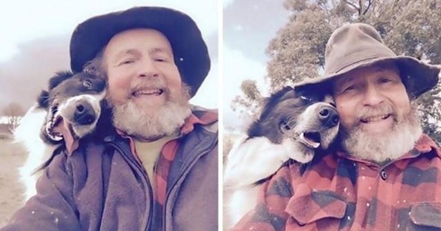 Kći je naučila tatu kako da slika selfije. Evo što joj je kasnije slao.