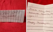 Mladić koji pati od depresije podijelio je slike simpatičnih poruka koje mu je djevojka sakrila po kući