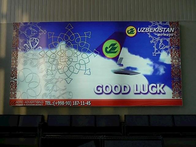 #6 Očito će vam trebati sreće ako odlučite letjeti aviokompanijom Uzbekistan Airways.