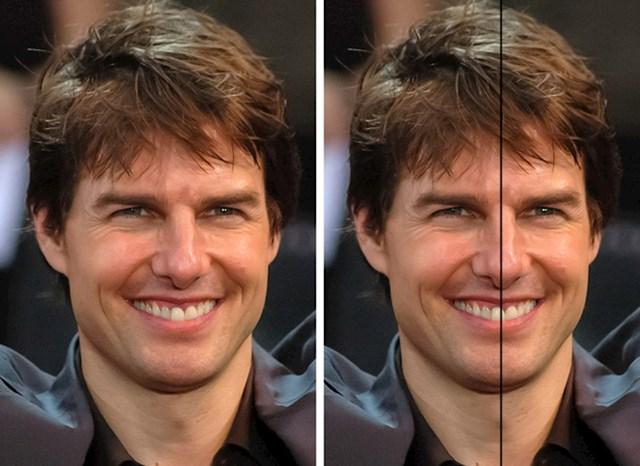 Jeste li ikad primijetili da Tom Cruise ima asimetrične zube? Jedan veliki prednji zub mu je na sredini lica.