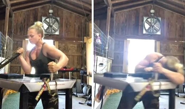 VIDEO Znate li kako vježba žena obaračica ruku? Ova snimka bi vas mogla iznenaditi