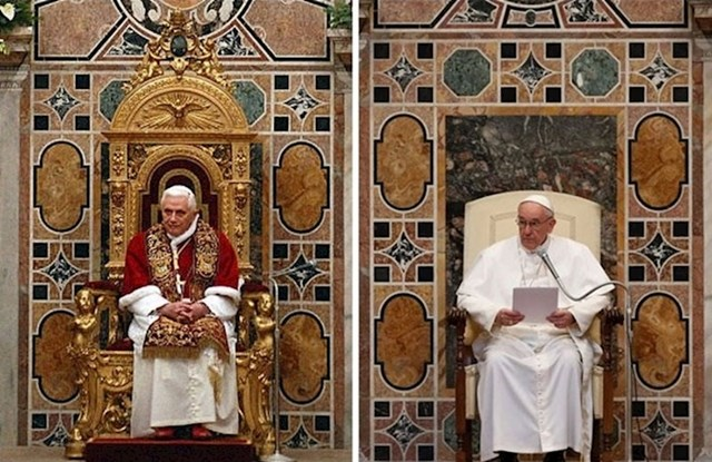 Papa Benedikt XVI. i Papa Franjo