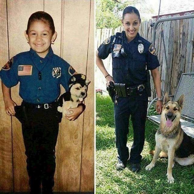 Oduvijek je htjela biti policajka i imati svog policijskog psa.