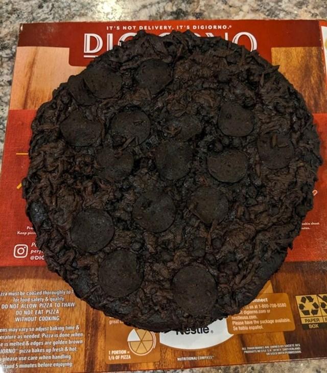 """""""Zaboravio sam da sam stavio pizzu u pećnicu pa se pekla 8 sati."""""""