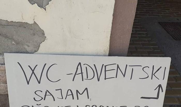 Natpis u blizini osječkog adventskog sajma nasmijao je prolaznike, evo što je pisalo na ploči
