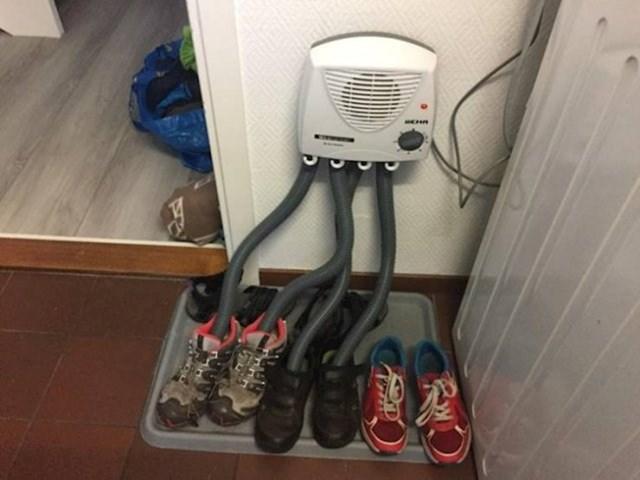 Kako u Norveškoj suše obuću...