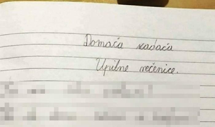Djeca su morala napisati upitne rečenice, jedan učenik je začudio učiteljicu neobičnim pitanjima