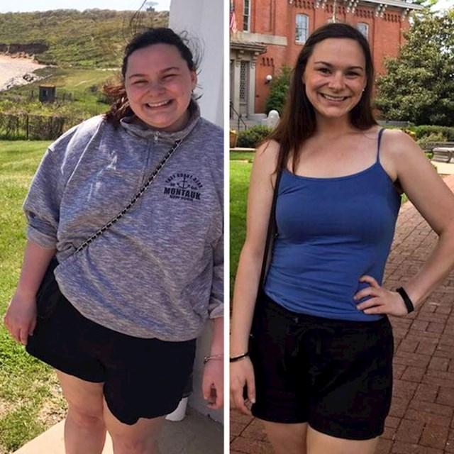 Rezultati su ubrzo postali vidljivi nakon što je prešla na normalniju prehranu.