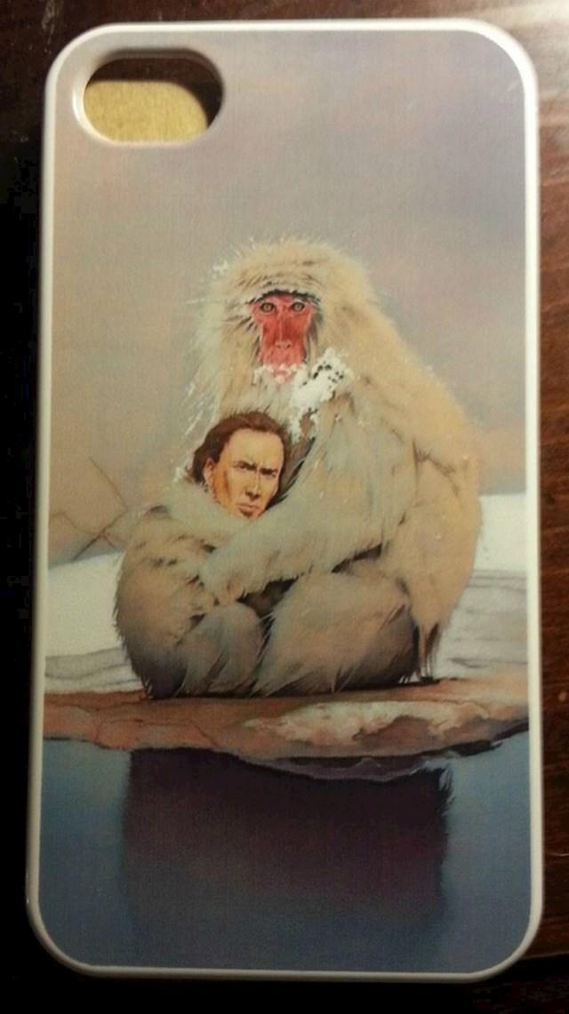 """""""Dobio sam masku za mobitel na kojoj Nicolas Cage grli majmuna."""""""