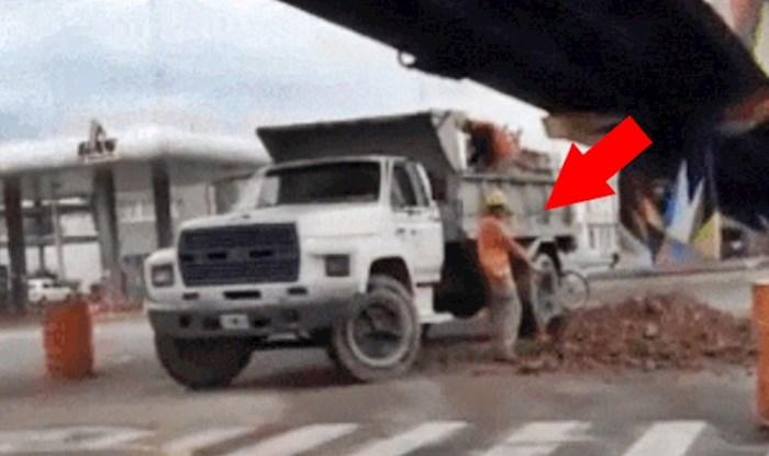 Vozač je snimio radnike koji su gubili vrijeme na urnebesan način, pogledajte što su radili