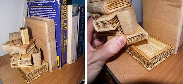 """""""Napravio sam držač knjiga koji u sebi ima mjesto za skrivanje sitnih stvari, npr. ključeva."""""""