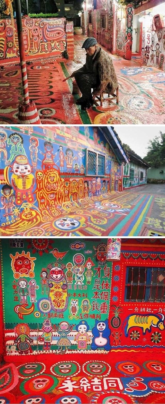 96-godišnji djed s Tajvana spasio je svoje selo prekrasnim umjetničkim djelima. Vlasti su odustale od rušenja starih kuća, sad su turistička atrakcija.