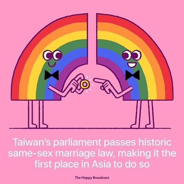 Tajvanski parlament je prvi u Aziji izglasao zakon o istospolnim brakovima.