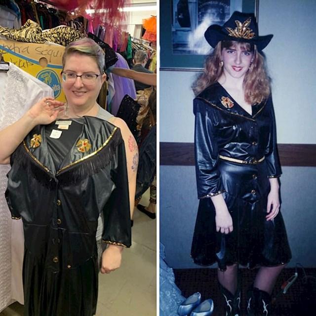 """""""Ponekad na internetu vidim članke u kojima je netko slučajno našao nešto iz svoga djetinjstva. E pa evo i mene. U second hand shopu sam našla kostim koji sam nosila kad sam imala 16 godina."""""""