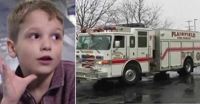 Kad su čuli što se dogodilo na dječakovom rođendanskom partyju, vatrogasci su odmah hitno došli