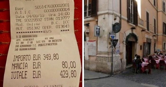 Japanski turisti su ostali šokirani kad su u restoranu u Rimu dobili račun za špagete, ribu i vodu