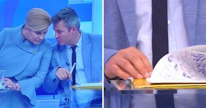 Što je Juričan na debati crtao po svojim papirima?