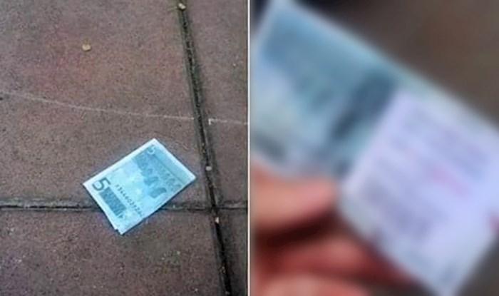 Na ulici je našao novčanicu pa slikao nešto što nikako nije očekivao