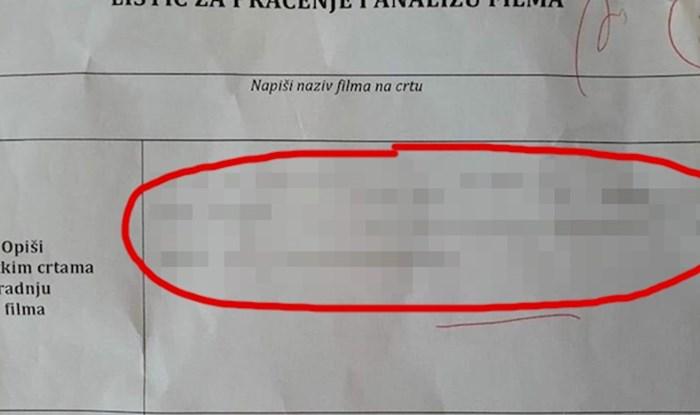 Učenik je na smiješan način riješio zadatak, no zbog ovog odgovora nije dobio dobru ocjenu