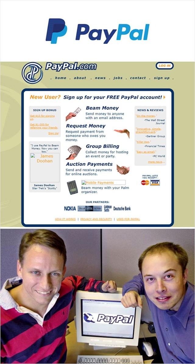 PayPal sustav za plaćanje (1998.)