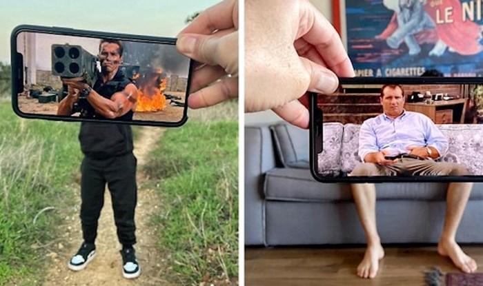 Ovaj lik pomoću mobitela pretvara obične prizore u uzbudljive scene iz filmova
