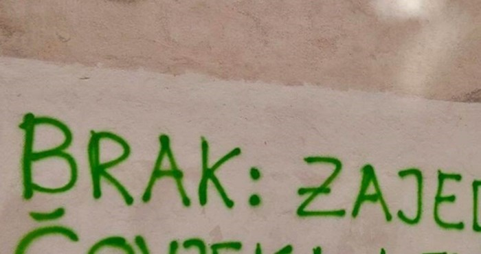 Netko je na zidu napisao definiciju braka koja nije mogla ostati neprimijećena