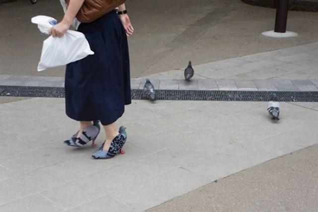 Štikle u obliku golubova
