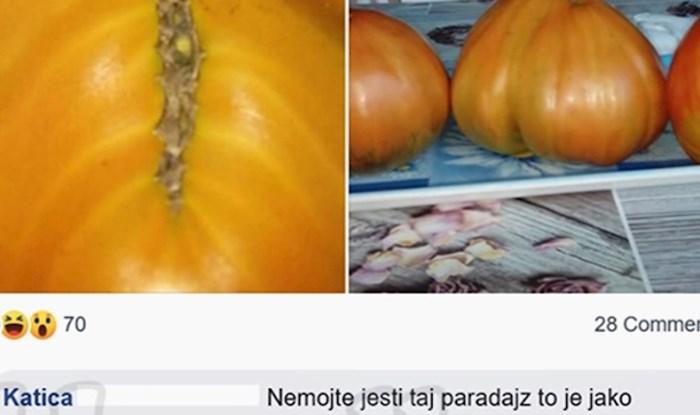Žena je na rajčici iz vrta ugledala Isusa, u Facebook komentarima je došlo do ozbiljne rasprave