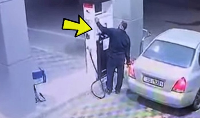 VIDEO Bezobrazni vozač je pokušao pobjeći bez plaćanja goriva, no to mu se odmah obilo o glavu