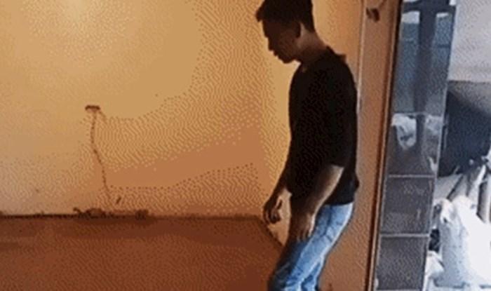 Majstor sa supertalentom: Nećete vjerovati kako je ovaj građevinski radnik obavljao svoj dio posla