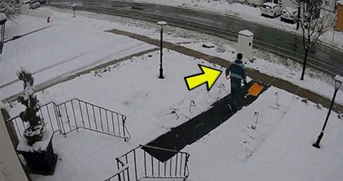 Potrudio se i očistio sav snijeg ispred kuće, poludio je kad je vidio što se nakon toga dogodilo
