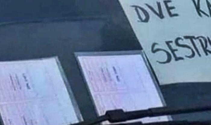 Vozač se jako naljutio kad je dobio kazne, pogledajte što je ostavio na vjetrobranskom staklu