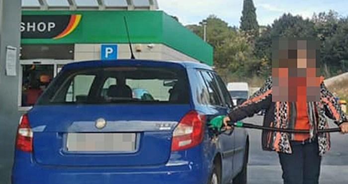 Žena iz Istre napravila je kaos na benzinskoj postaji, zbog ovog poteza je završila na internetu