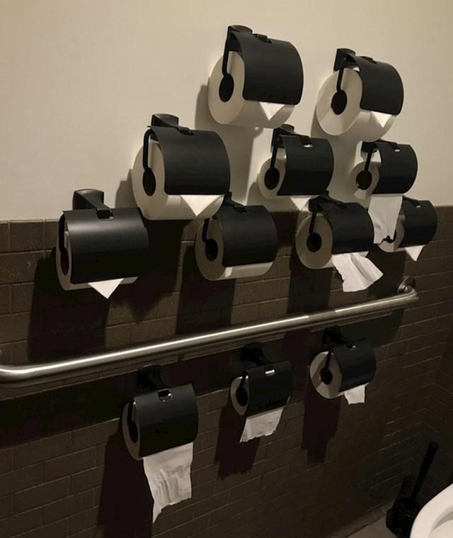 Stvarno su htjeli ljudima omogućiti da svatko ima dovoljno WC papira i da ga ne nestane tako brzo.