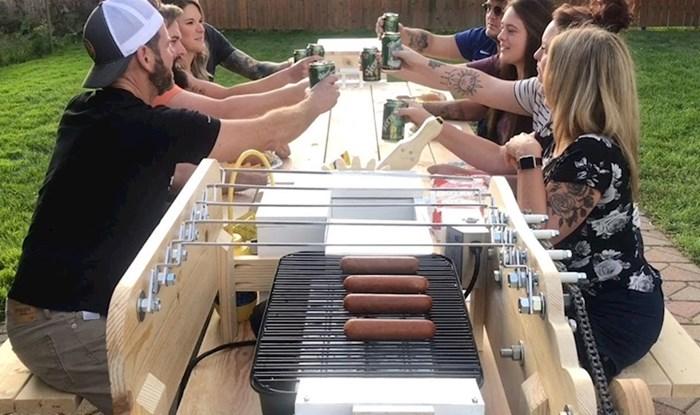 VIDEO Lik je napravio stol idealan za piknike i druženje u dvorištu, pogledajte kako funkcionira