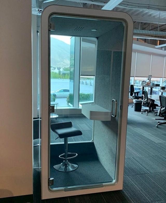 Ovo je posebna uredska kabina za one koji žele raditi u tišini.