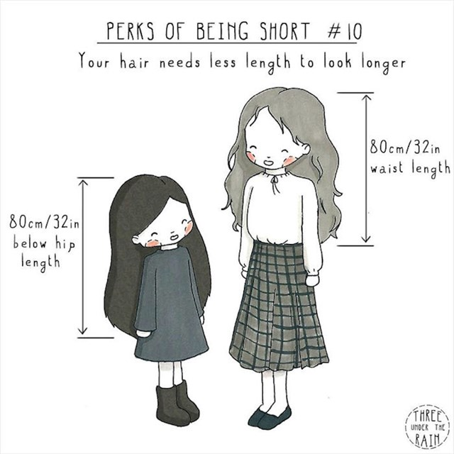 #10 Kosa vam zbog vaše visine izgleda duža.