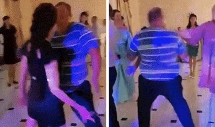 Lik se uživio u plesanje s drugom ženom, a onda je došla njegova supruga i osramotila ga