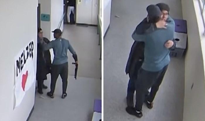 Šokantna snimka pokazuje trenutak u kojem trener uzima učenikovo oružje, grli ga i sprječava tragediju