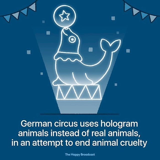 Jedan njemački cirkus koristi hologram umjesto stvarnih životinja. Tako se bore protiv zlostavljanja životnja.