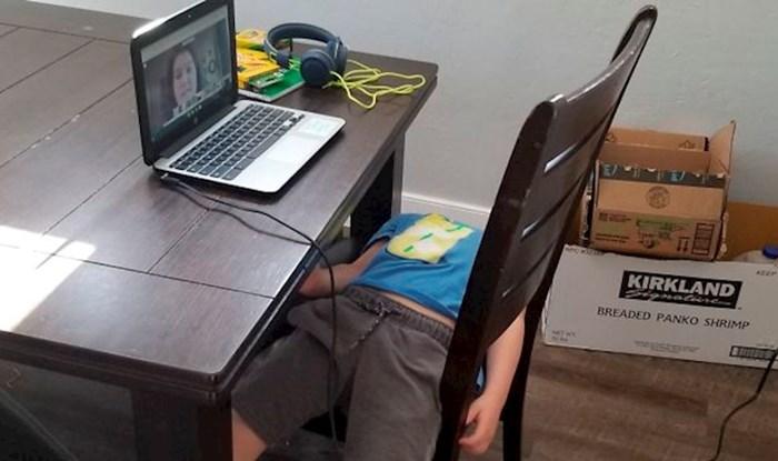 10 smiješnih slika djece kojoj je online nastava već odavno dosadila