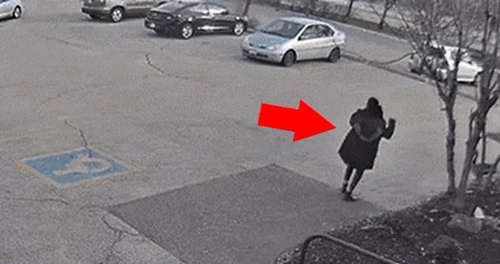 Žena je na parkiralištu upala u ozbiljne probleme, samo zle osobe će se smijati ovoj snimci