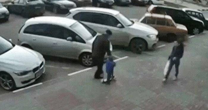 Djed je nakon šokantne nezgode shvatio da su unučić i on imali ogromnu dozu sreće