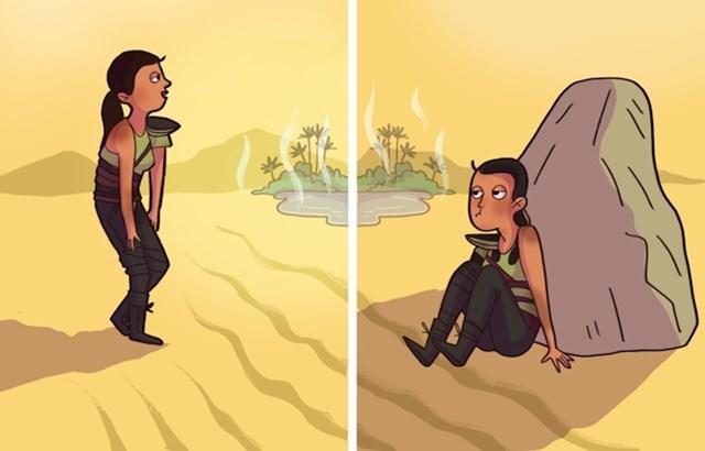 """Mit broj 9: """"U pustinji obavezno najprije morate naći izvor vode."""""""