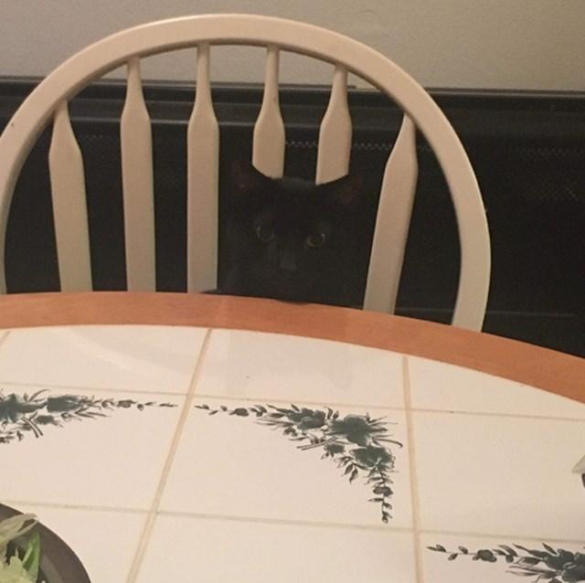 Ako napola zatvorite oči, vidjet ćete samo stol i stolicu.