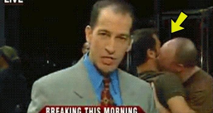Ozbiljne vijesti pretvorile su se u komediju kad su se iza reportera pojavili ovi likovi