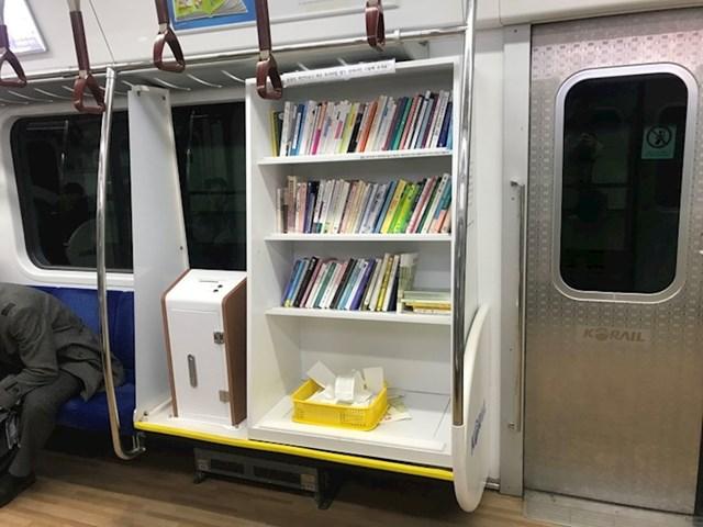Metro u južnokorejskom glavnom gradu ima cool mini-knjižnicu.