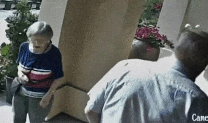 VIDEO Bakica i djed izlazili su iz kuće, nisu ni primijetili da ih vani čeka nešto opasno