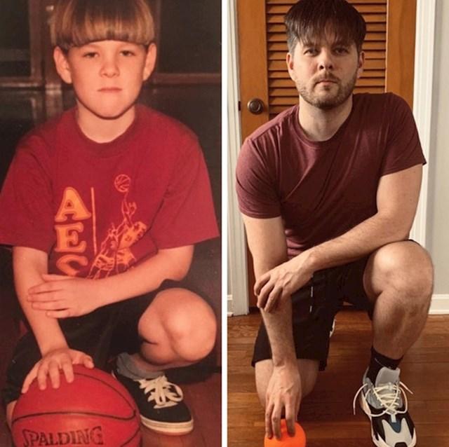 """""""Nakon 26 godina ponovno imam sličnu frizuru. Na lijevoj fotki sam imao 6 godina, sad imam 32."""""""