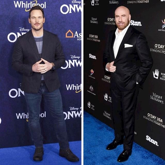 Chris Pratt i John Travolta - 188 cm